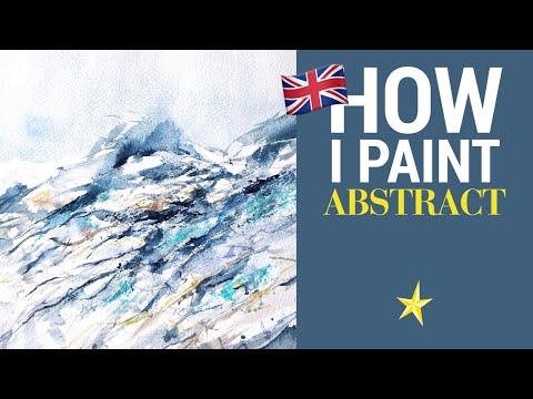 Abstract blue watercolor - ENGLISH VERSION