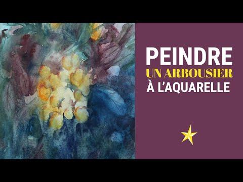 Peindre un arbousier avec les aquarelles ISARO