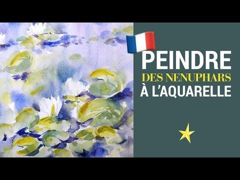 Nénuphars à l'aquarelle - VERSION FRANÇAISE