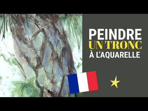 Peindre un tronc de sapin à l'aquarelle - VERSION FRANÇAISE