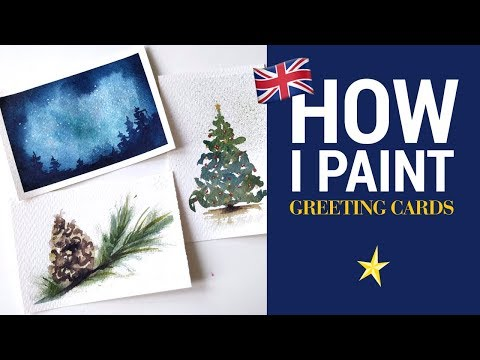Greeting cards in watercolor - ENGLISH VERSION