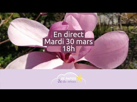 En direct 30/03 : Peindre des magnolias à l'aquarelle