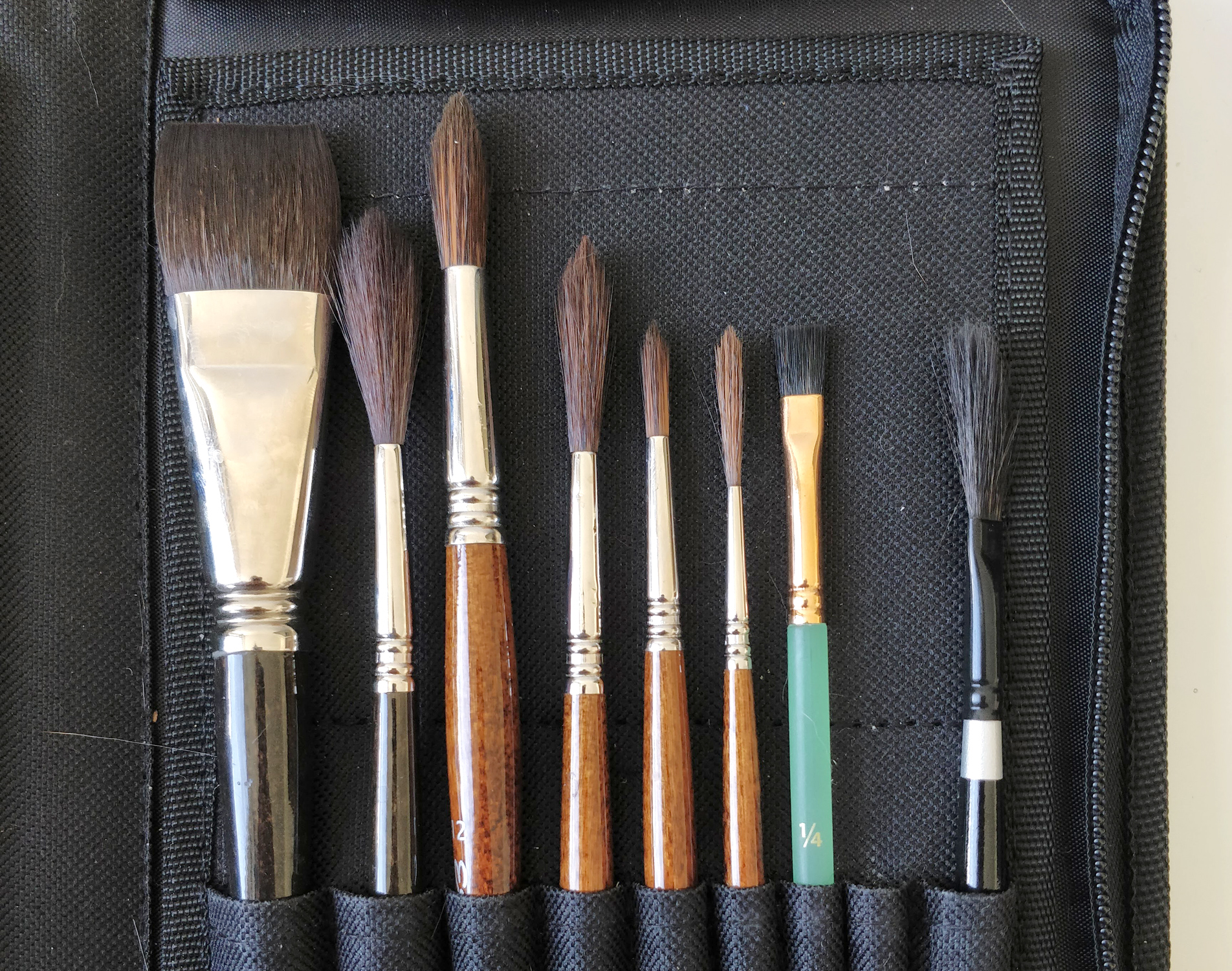 My synthetic hair brushes