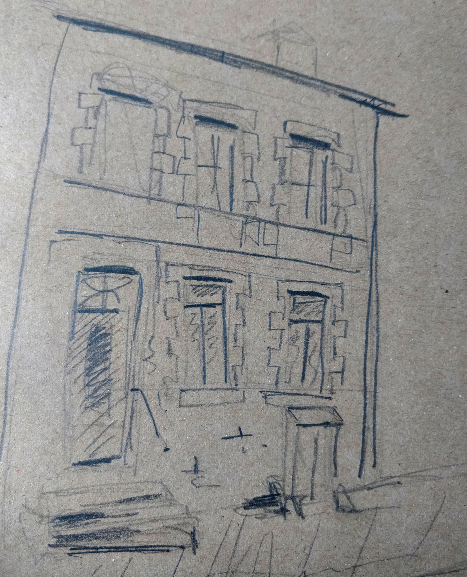 Sketch of a house in Arras