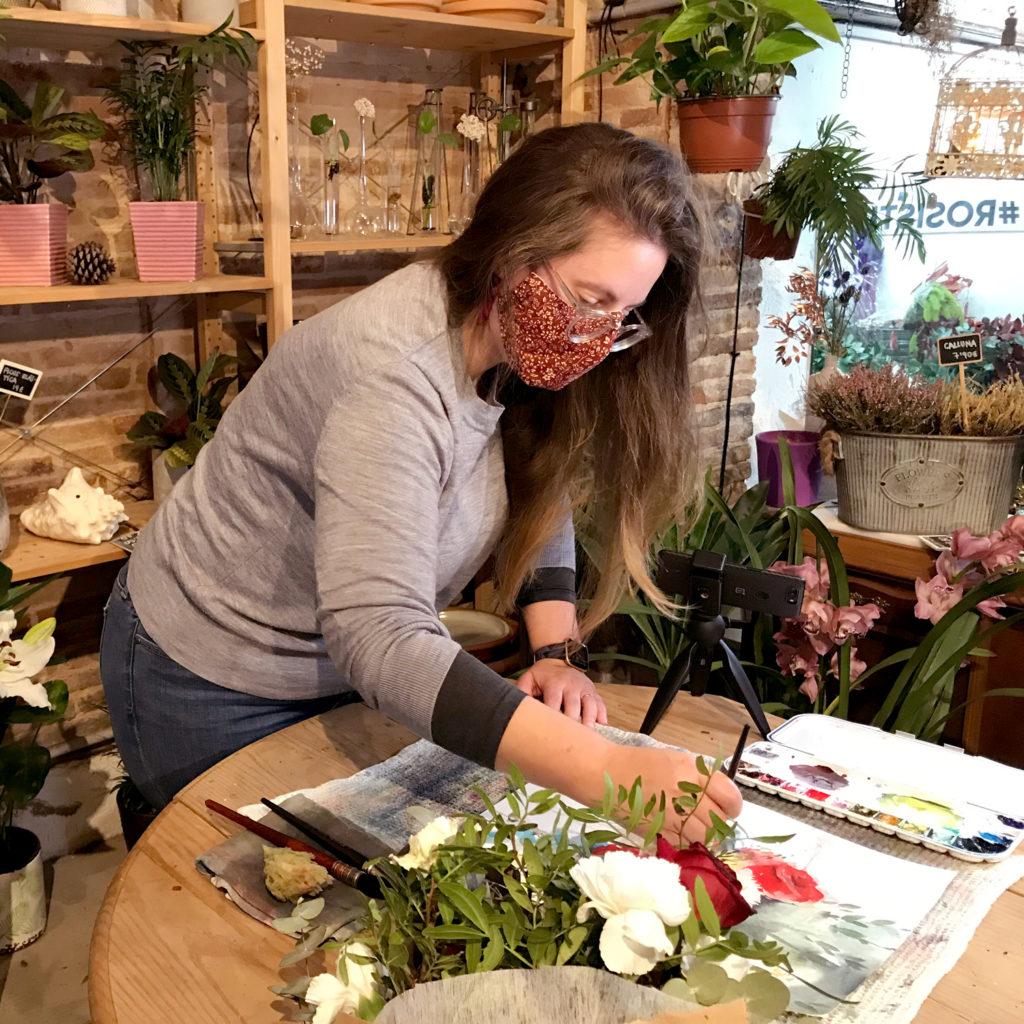 Ursula artiste aquarelliste à Barcelone